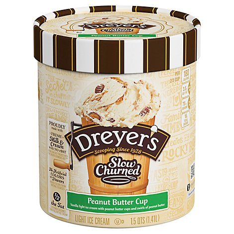 Dreyers Edys Ice Cream Slow Churned Light Peanut Butter Cup - 1.5 Quart