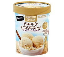 Signature SELECT Ice Cream Vanilla Bean Churned Light - 1.50 Quart