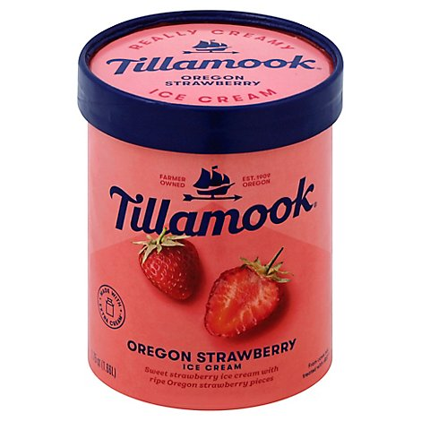 Tillamook Oregon Strawberry Ice Cream - 1.75Quart