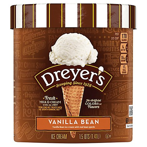 Dreyers Edys Ice Cream Grand Vanilla Bean - 1.5 Quart