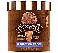 Dreyers Edys Ice Cream Grand Double Fudge Brownie - 1.5 Quart