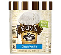 Dreyers Edys Ice Cream Slow Churned Light Vanilla - 1.5 Quart