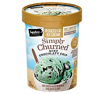 Signature SELECT Mint Chocolate Chip Light Ice Cream - 1.50 Quart