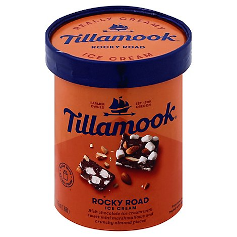 Tillamook Premium Rocky Road Ice Cream - 1.75 Quart