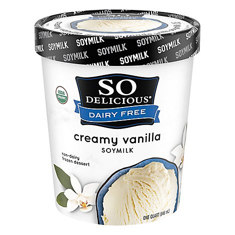 Soy Delicious Dairy Free Creamy Original Vanilla Ice Cream - 32 Oz