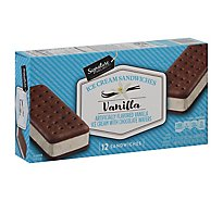 Signature SELECT/Lucerne Ice Cream Sandwiches Vanila Flavored - 12-3.5 Fl. Oz.
