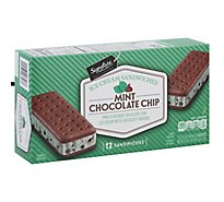 Signature SELECT Ice Cream Sandwiches Mint Chocolate Chip - 12-3.5 Fl. Oz.