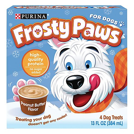 Purina Frosty Paws Dog Treat Peanut Butter Flavor 4 Count Box - 13 Fl. Oz.