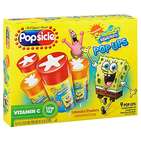 Popsicle Pop Ups SpongeBob SquarePants - 9 Count