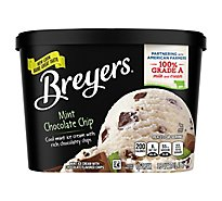 Breyers Ice Cream Mint Chocolate Chip - 1.5 Quart