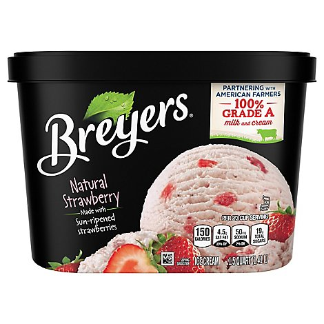 Breyers Ice Cream Original Natural Strawberry - 48 Oz