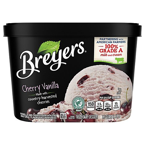 Breyers Ice Cream Original Cherry Vanilla - 48 Oz