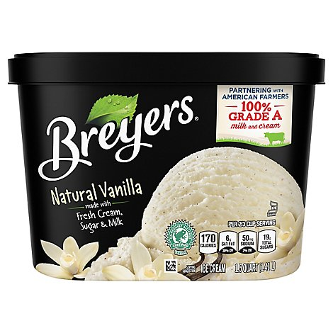 Breyers Ice Cream Natural Vanilla - 48Oz