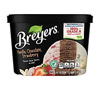 Breyers Ice Cream Vanilla Chocolate Strawberry - 48 Oz