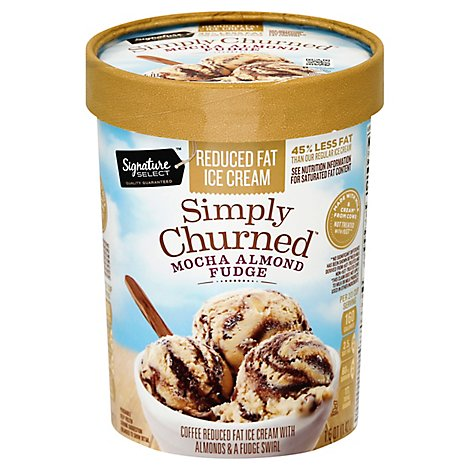 Signature SELECT Mocha Almond Fudge Light Ice Cream - 1.50 Quart