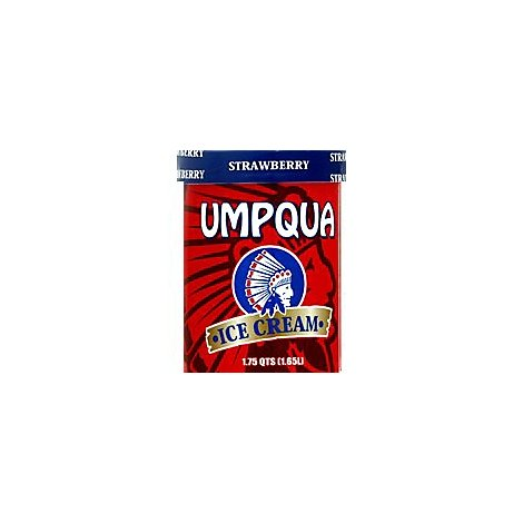 Umpqua Ice Cream Strawberry - 1.75 Quart