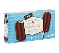 Signature SELECT/Lucerne Ice Cream Bars Vanilla Sundae - 12-2.5 Fl. Oz.