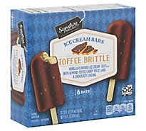 Signature SELECT/Lucerne Ice Cream Bars Toffee Brittle - 6-2.5 Fl. Oz.
