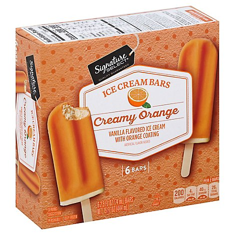 Signature SELECT Ice Cream Bars Orange Creamy - 6-2.5 Fl. Oz.