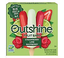 Outshine Fruit Ice Bars Strawberry Wildberry Lime 12 Counts - 18 Fl. Oz.