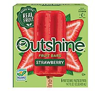Outshine Fruit Ice Bars Strawberry 6 Counts - 16.1 Fl. Oz.