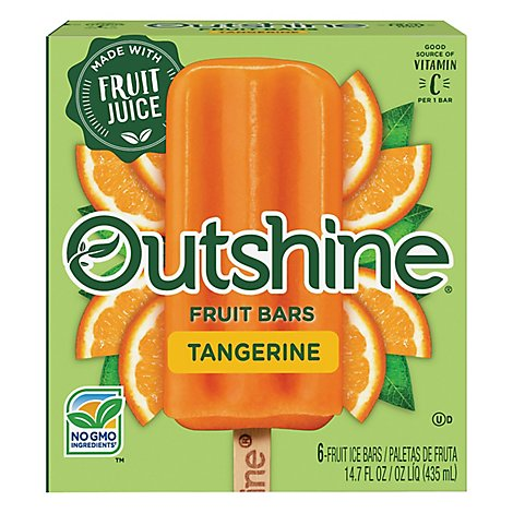 Outshine Fruit Ice Bars Tangerine 6 Count - 14.7 Fl. Oz.