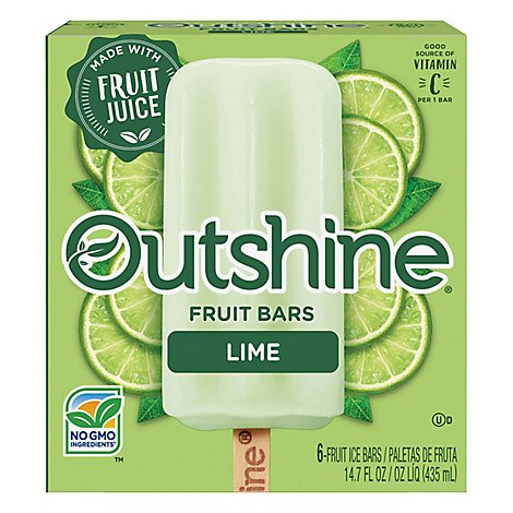 Outshine Fruit Ice Bars Lime 6 Counts - 14.7 Fl. Oz.