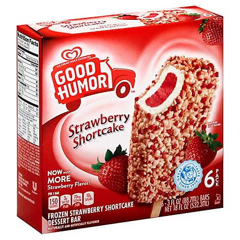 Good Humor Dessert Bar Frozen Strawberry Shortcake - 6-3 Fl. Oz.