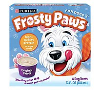 Purina Frosty Paws Dog Treat Original Flavor 4 Count Box - 13 Fl. Oz.