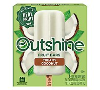 Outshine Fruit Ice Bars Creamy Coconut 6 Counts - 16.1 Fl. Oz.