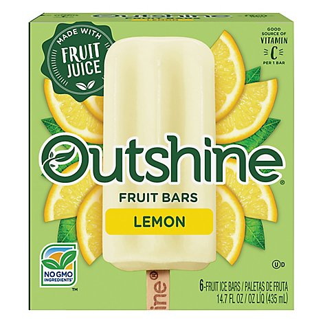 Outshine Fruit Ice Bars Lemon 6 Counts - 14.7 Fl. Oz.