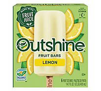 Outshine Fruit Ice Bars Lemon 6 Count - 14.7 Fl. Oz.