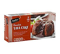 Signature SELECT Lava Cake Chocolate 2 Count - 8 Oz