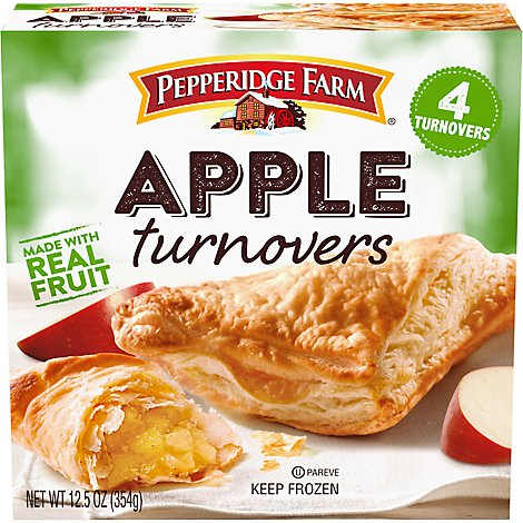Pepperidge Farm Puff Pastry Turnovers Apple 4 Count - 12.5 Oz