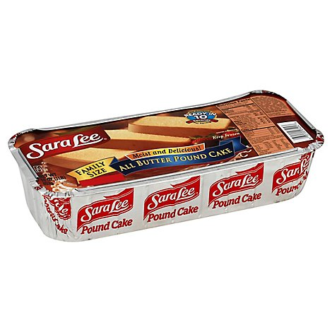 Sara Lee Cake Pound All Butter Family Size - 16 Oz