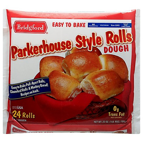 Bridgford Dough Parkerhouse Style Rolls - 24 Count