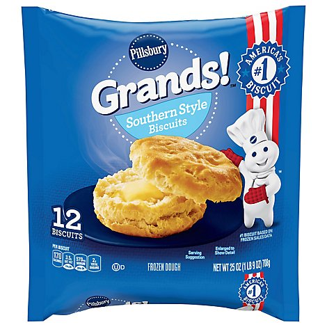 Pillsbury Grands! Biscuits Southern Homestyle 12 Count - 25 Oz