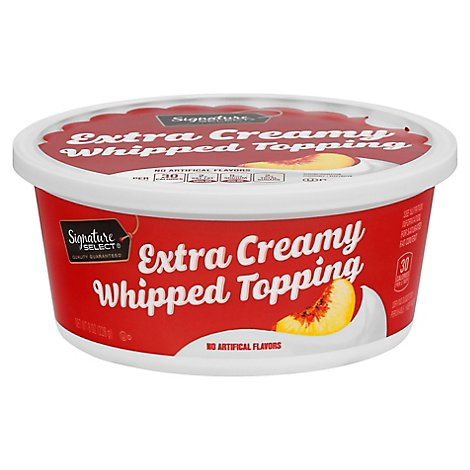Signature SELECT Whipped Topping Extra Creamy - 8 Oz
