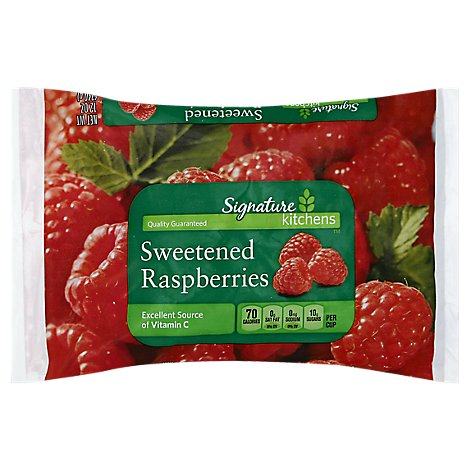 Signature Kitchens Raspberries Sweetened - 12 Oz