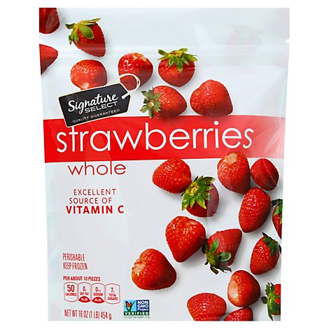 Signature SELECT Frozen Unsweetened Whole Strawberries - 16 Oz