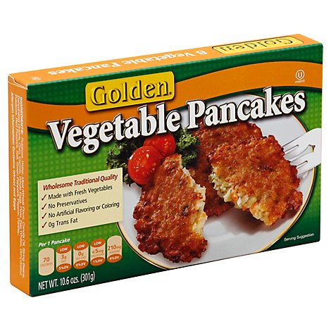 Golden Pancakes Vegetable 8 Count - 10.6 Oz