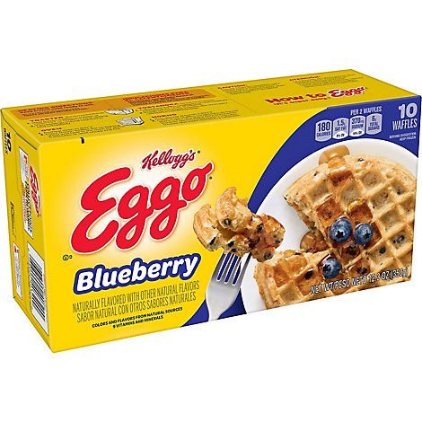 Eggo Waffles Blueberry 10 Count - 12.3 Oz