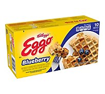 Eggo Frozen Waffles Blueberry Easy Breakfast - 12.3 Oz