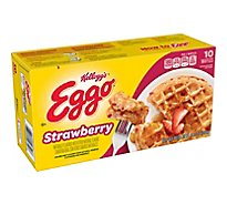 Eggo Frozen Waffles Strawberry Easy Breakfast - 12.3 Oz
