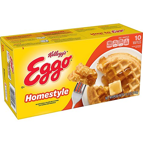 Eggo Waffles Homestyle 10 Count - 12.3 Oz