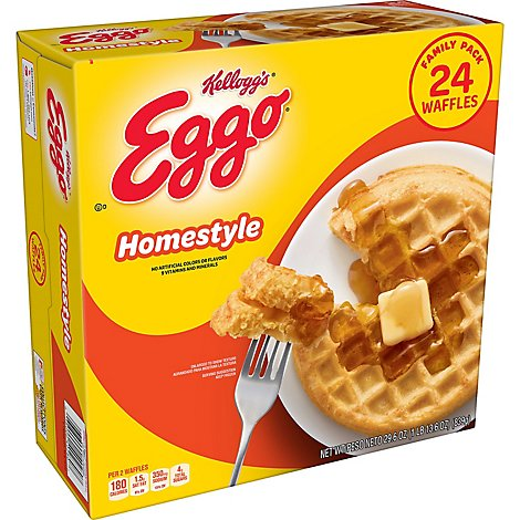 Eggo Frozen Waffles Homestyle Family Pack - 29.6 Oz
