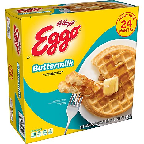 Eggo Frozen Waffles Buttermilk Family Pack - 29.6 Oz