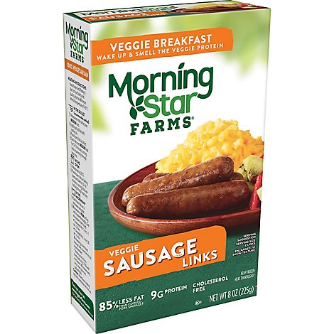 Morningstar Farms Veggie Breakfast Sausage Links Vegetarian Box 8 oz