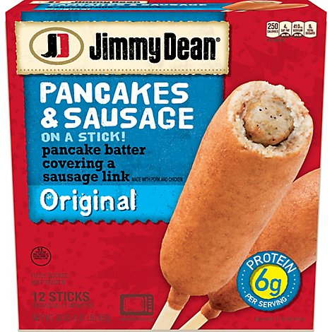 Jimmy Dean Pancakes and Sausage on a Stick Original 12 Count - 30 Oz