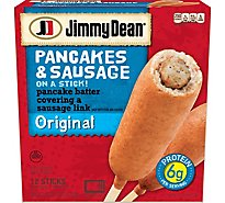 Jimmy Dean Pancakes & Sausage On A Stick Original 12 Count - 30 Oz
